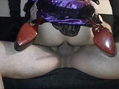 Julia X taking daddy's cock