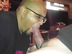 Swallowing cock