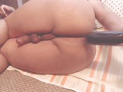 Thick Black Dildo Toying