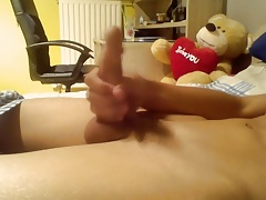 Young Smooth Teen Boy Wanking Nice Cock