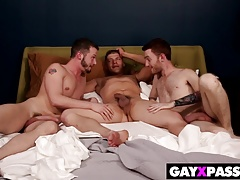 STRAIGHT GUY GETS TRICKED BY TWO GAYS