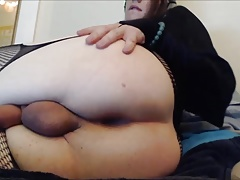 Femboy Anal Masturbation