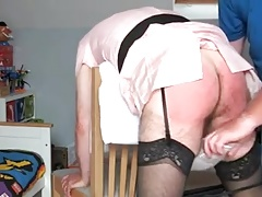 sissy-maid spanked and Slippered by her Master 2