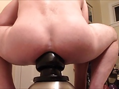 SUPER HUGE BUTT PLUG POUNDING & GAPING LOOSE MAN HOLE