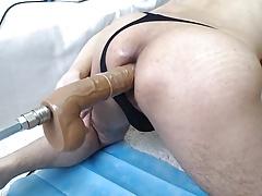 Sex Machine and My cum to my ass