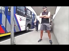 Caught - At the bus stop (hard dick)