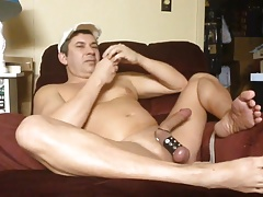 Jerking Out A Load On Poppers