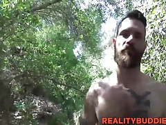 Tattooed and fit straight dude Devin gets anal fucking