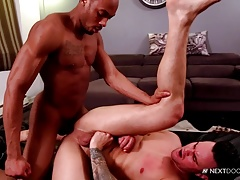 NextDoorEbony Pretty White Bottom opens Ass for BBC