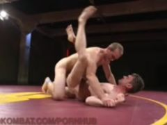 Naked Studs Wrestle To Fuck