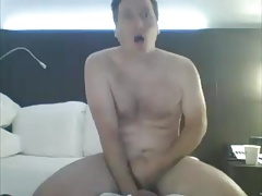 married dad in a hotel with a dildo up his ass