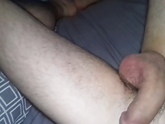 Soft to hard solo with cum shot