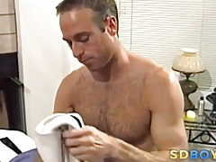 Amateur banged by masseur