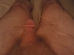 Edging My Little White Cock Until It Squirts