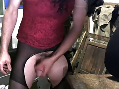 cd sissy slut pounding my ass with a big buttplug