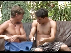 3 Sexy Boy's Hot Outdoor Bareback Fun