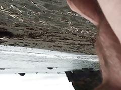 Naked walk at the beach