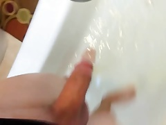 Sissy in One Piece Swimsuit Pissing on Your Face
