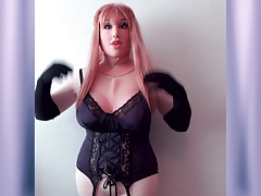 Doll in purple lingerie 4