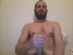 SEXY BEARDED LATINO MARRIED DUDE BIG DICK THICK LOAD