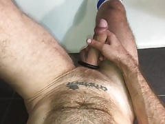 Swallow fuck in the bathroom