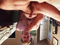 Stroking my hard cock in bedroom - edging