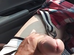 Jerking off hung Uber driver - parking in Toronto