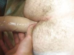 Solo anal dildo fucking