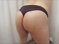 Black panty ass
