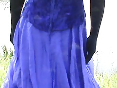 purple dress n crinoline
