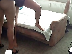 Amateur - My older Friend & I in Pantyhose Petting (2 Cams)