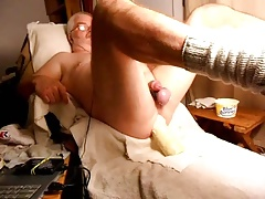 Stroking And Cumming While Fucking Myself With A Big Dildo