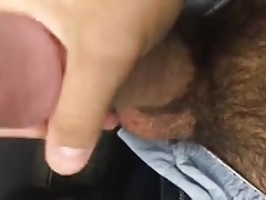 Guy with big cock jerks off and cums