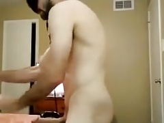 Mask, big cock, cuming guy