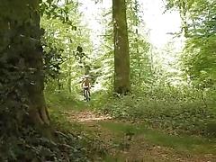 Grandad Naked Bike Ride in the Woods