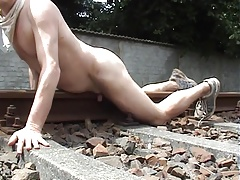 Humping a rail track while the birds were singing