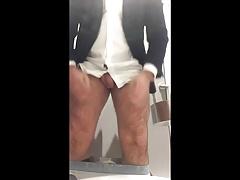 Edging in public toilet