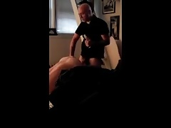 Verbal hairy daddy fucking his boy