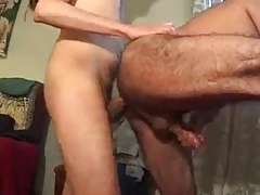 old mexican taking 2 loads from two boys.mp4