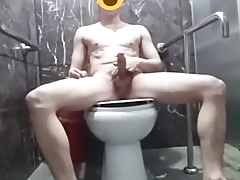 cute Asian young wanks in toilets (1'07'')
