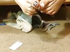 My twink toes feet tease