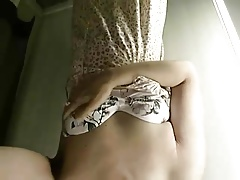 Asian CD Stephy strip tease and jerk off.