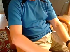 Mature hunk masturbating