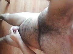 Me cumming in white socks
