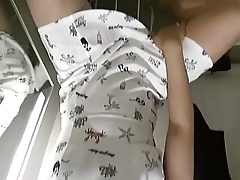 Asian CD Stephy in white dres