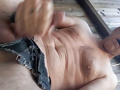 Outdoor Masturbation in Shredded Short Shorts.mp4