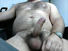 HAIRY BEAR STUD BIG UNCUT CUMSHOT LATINO HUNK