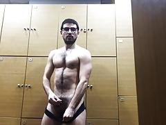 greek gym locker room jerking off
