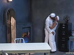 Gabriel slams into Bruno's ass