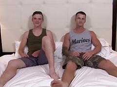 ActiveDuty Quentin Gainz Fucks Raw with Cute Army Brat